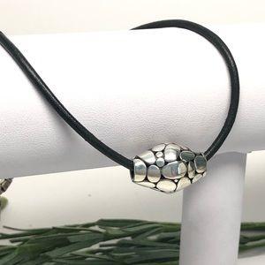 .925 Kali Slide Leather Cord Necklace